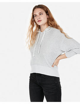 Hi Lo Hooded Sweater by Express
