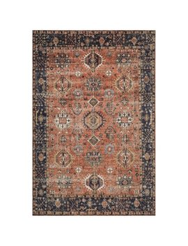 Safavieh Classic Vintage Rust/ Navy Cotton Rug by Safavieh
