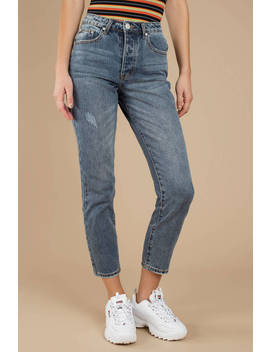 Hauser Light Wash High Rise Girlfriend Jeans by Tobi