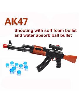 Ak 47 Toy Gun 3 Pcs Soft Bullet 400 Pcs Water Absorb Bullet Pistol Gun Soft Foam Bullet Orbeez Water Gun Airgun Toys For Kids by Abbyfrank