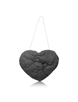 The Cleansing Sponge   Charcoal Heart Shape (1 Piece) by One Love Organics One Love Organics