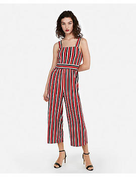 Stripe Square Neck Jumpsuit by Express