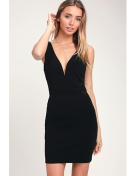 Back On My Beat Black Mesh Bodycon Dress by Lulus