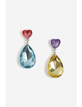 **Mismatch Heart Stone Drop Earrings by Topshop