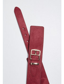 Outfit Balance Suede Belt by Modcloth