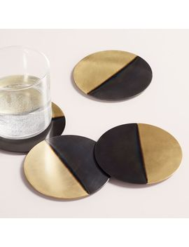 Half Dipped Metal Coasters (Set Of 4) by West Elm
