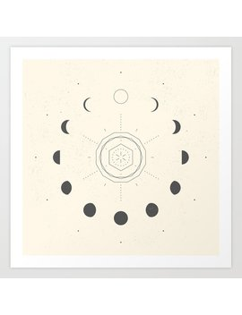 Moon Phases Light Art Print by