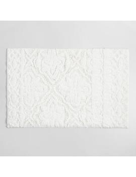 White Tufted Tile Bath Mat by World Market