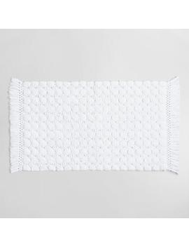 White Woven Dot Bath Mat by World Market