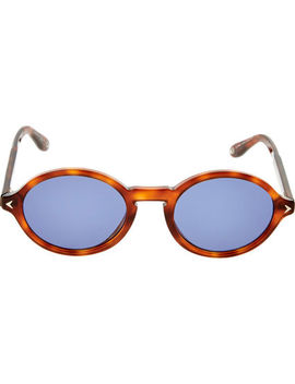 Brown & Blue Oval Sunglasses by Givenchy