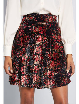 Earned Ease Velvet Skater Skirt by Modcloth