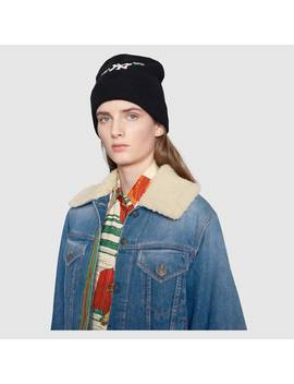 Denim Jacket With Shearling by Gucci