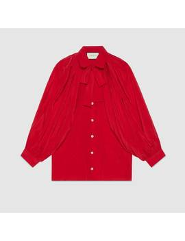 Silk Shirt With Neck Bow by Gucci