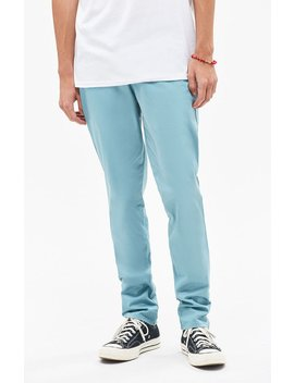 Pac Sun Slim Fit Basic Teal Chino Pants by Pacsun