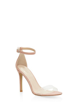 Clear Band High Heel Sandals by Rainbow
