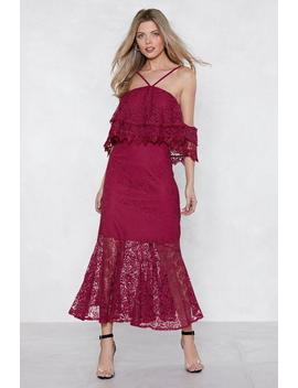 Without A Lace Maxi Dress by Nasty Gal