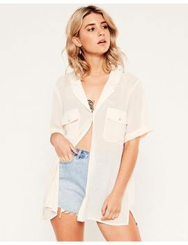 Sheer Oversized Shirt by Glassons