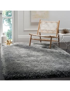 Safavieh Handmade Luxe Shag Super Plush Grey Polyester Rug by Safavieh