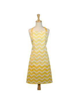 Yellow Ombre Chevron Apron by Pier1 Imports