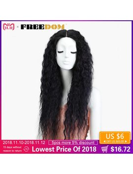 "Freedom Synthetic  Lace Front Wigs For Black Women Curly Hair Ombre Purple Black Wigs 28"" High Temperature Fiber Glueless  by Freedom"