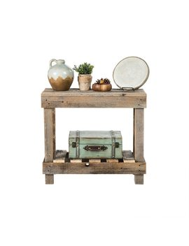 Del Hutson Designs Barnwood Sofa Table by Generic