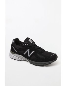 New Balance 990v4 Made In UsBlack & Silver Shoes by Pacsun