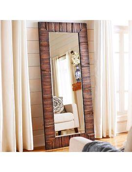 Eternal Wood Framed Floor Mirror by Pier1 Imports