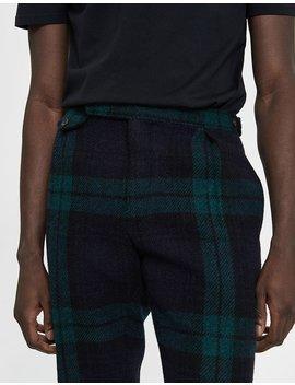 Blackwatch Pleated Trouser by Polo Ralph Lauren