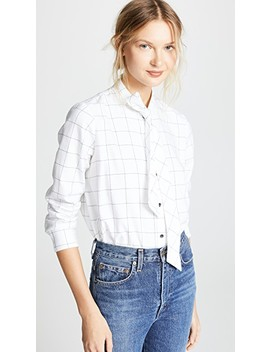 Long Sleeve Tie Neck Button Down by Madewell