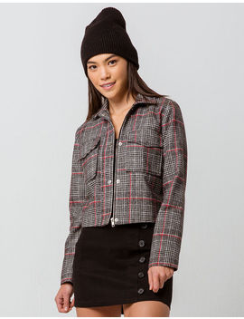 Ivy & Main Crop Plaid Womens Jacket by Ivy & Main