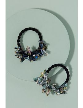 Set Of Two Embellished Hair Ties by Anthropologie