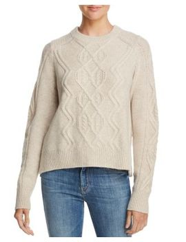 Aran Knit Cashmere Sweater   100 Percents Exclusive by Aqua Cashmere