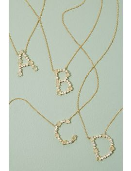 Monogram Jewelled Necklace by Anthropologie