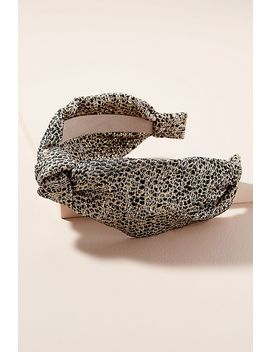 Metallic Leopard Print Headband by Anthropologie