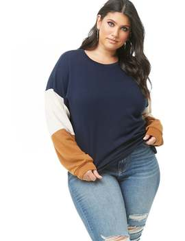 Plus Size Colorblock Sweatshirt by Forever 21