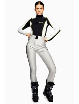**Metallic Silver Trousers By Topshop Sno by Topshop