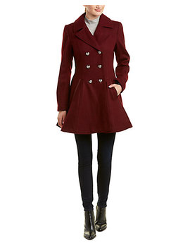 Laundry By Shelli Segal Double Breasted Wool Blend Coat by Laundry By Shelli Segal