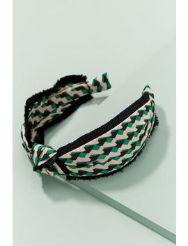 Knotted Geometric Print Headband by Anthropologie
