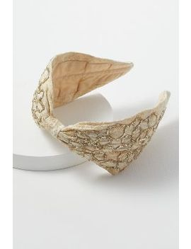 Embellished Embroidered Jacquard Headband by Anthropologie