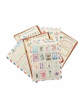 Y.P.Selected Set Di 6 Fogli Craft Dairy Stamp Deco Adesivi Di Carta Sticker Album Regalo by Y.P.Selected
