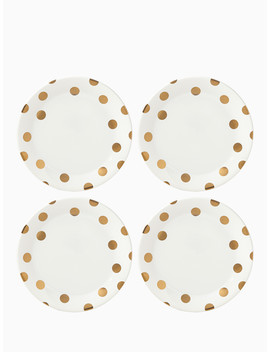Gold Dinner Plate Set by Kate Spade