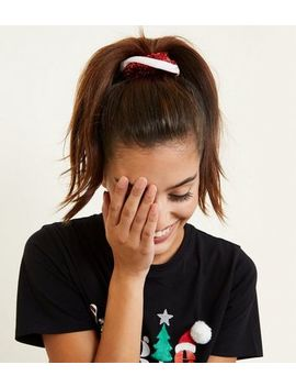Red Christmas Scrunchie by New Look