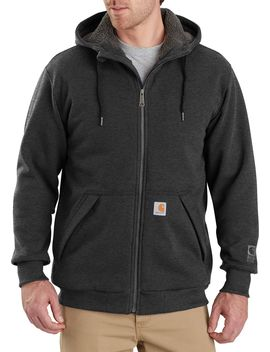 Carhartt Men's Rain Defender Rockland Sherpa Lined Full Zip Hooded Sweatshirt by Carhartt