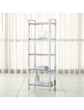Pilsen Chrome Bookcase by Crate&Barrel