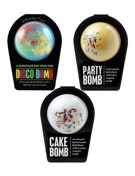 Party Bath Bomb   Set Of Three by Da Bomb Bath Fizzers