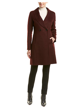 Tahari Caleigh Wool Blend Coat by T Tahari
