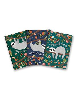 The Sloth Life Notebook   Set Of Three by Zulily