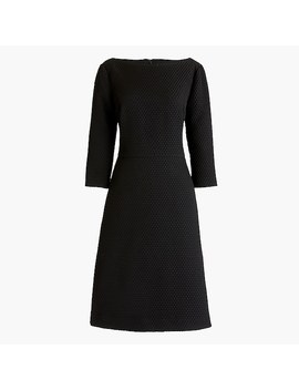 Boatneck Sheath Dress In Matelassé by J.Crew