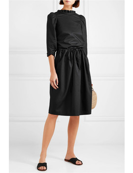 Cottage Ruched Cotton Poplin Skirt by Atlantique Ascoli