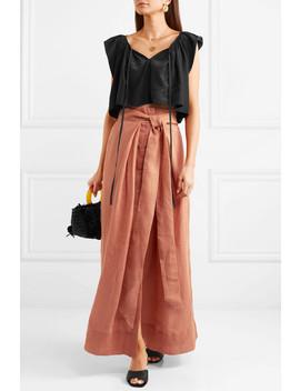 Avedon Days Linen Canvas Maxi Skirt by Kalita